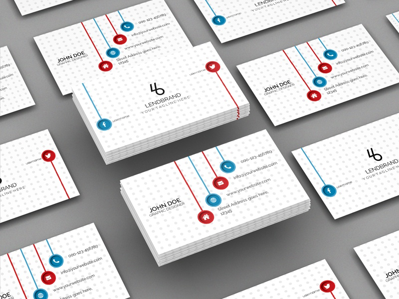 floating bulk business card mockup vol 2 - Bulk Business Cards