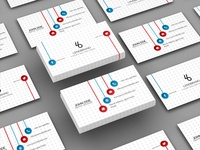 Free Floating Business Card PSD Mockup Vol 2