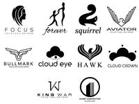 Free Pack Of 10 Minimalist Logo Designs