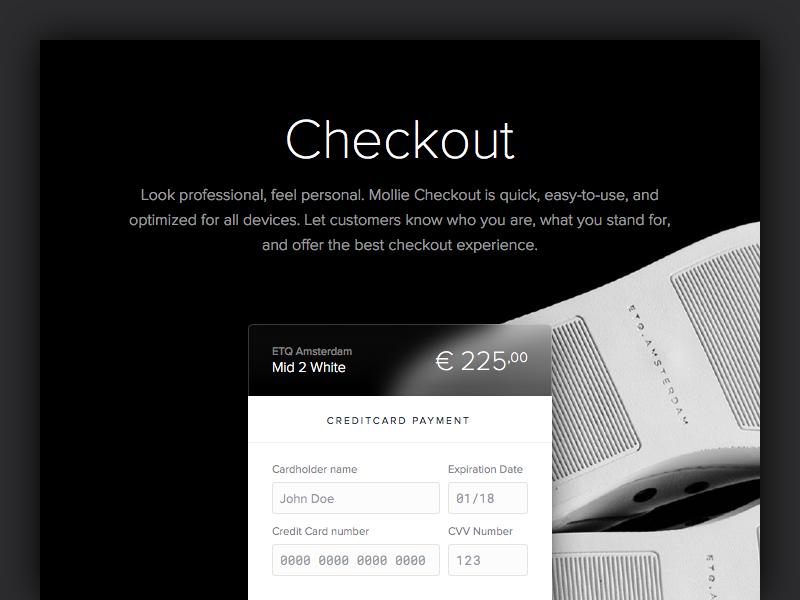Checkout design website web payments interface design mollie ui