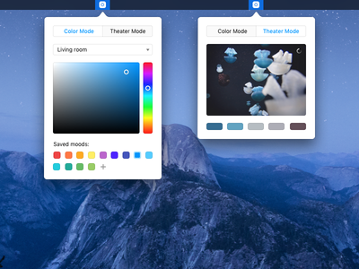 Nonbilight tv spectrum picker colors osx electron hue mac app lights philips hue lights