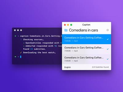 Caption Core ui electron linux windows macos subtitles app caption