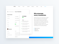 Micromanage every transaction