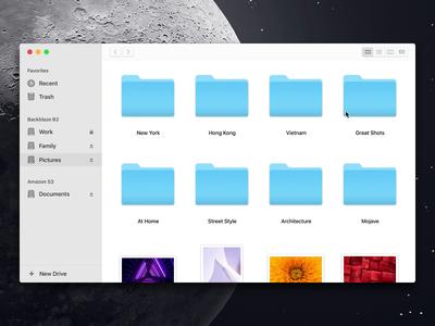 Shuttle App ui interface archive cloud desktop native app mac shuttle