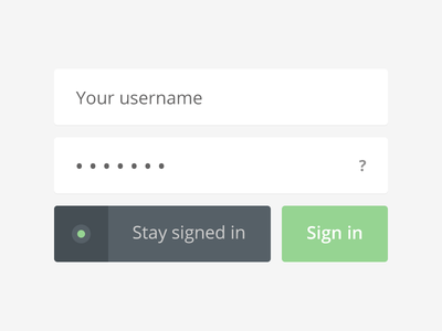 Your username login app interface ui sign in input form flat