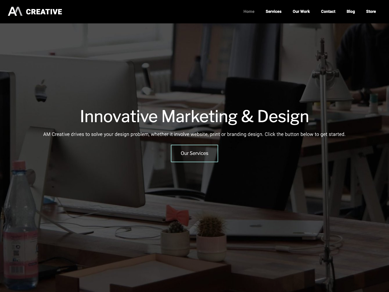 AM-Creative Website wordpress website design webdesign website web