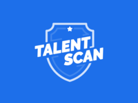 Talentscan - Logo soccer badge flat design branding logo