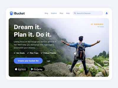 iBucket - Website website design brand flat landingpage app web design ux ui website