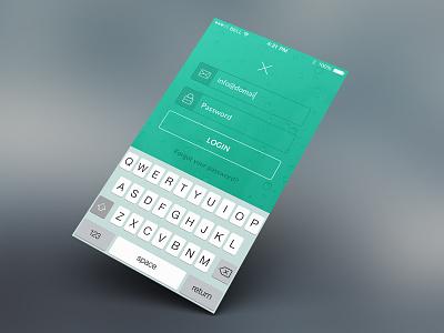 Loginscreen App icons app login screen flat design iphone green ui ios