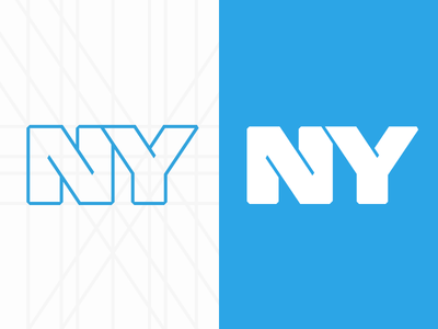 New York new york logo ny nyc app icon blue outline design illustration lines