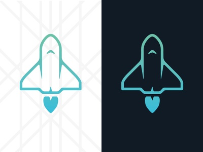 Space Shuttle space shuttle rocket icon flat iphone concept app illustration
