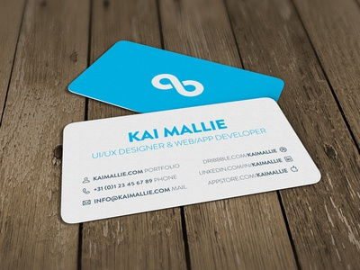 Business Card business card print infinity blue flat design paper