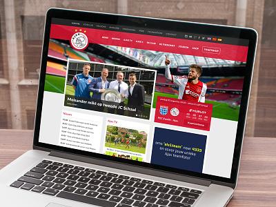 Ajax.nl Redesign ajax website redesign macbook red flat soccer site ui football