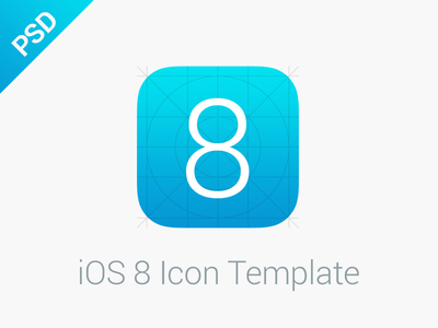 iOS 8 Icon Template by Kai Mallie - Dribbble