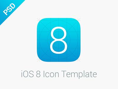 iOS 8 Icon Template ios8 template icon psd freebie free iphone ipad @2x @3x ios7 app