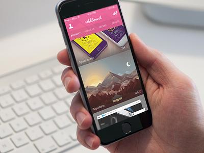 Dribbble App iphone app ios dribbble flat design ui ux activity feed