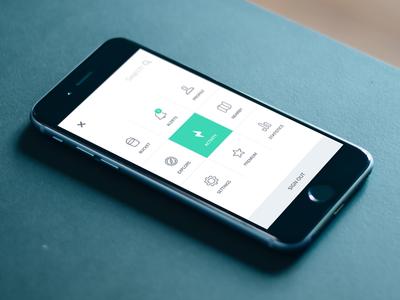 Navigation app navigation menu flat ios iphone ui ux