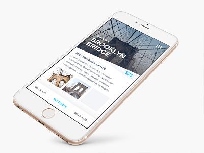 New York Detail mockup iphone blue new york flat ux ui design app