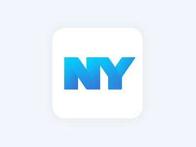 NYC App Icon ios gradient blue ui icon app nyc
