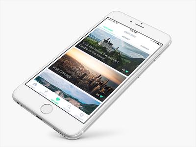 Explore design green white flat iphone explore ux ui app