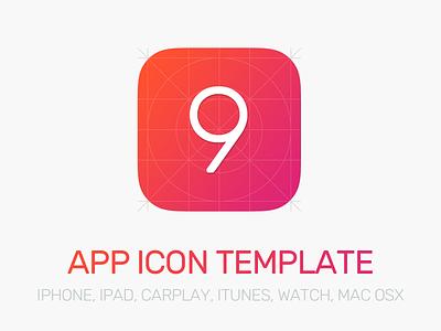 App Icon Template 2.0 freebie psd carplay osx watch ipad iphone template icon app