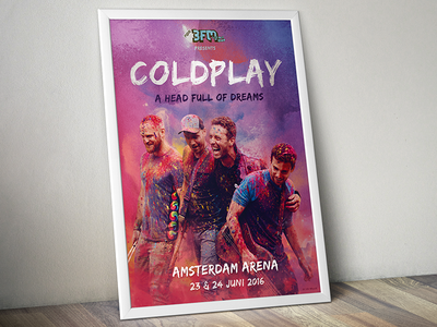 Coldplay coldplay contest design poster