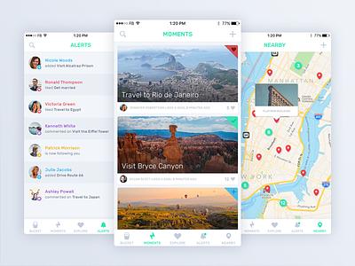 iBucket 2.0 Launch iphone design ux ui green flat ios list bucket launch app