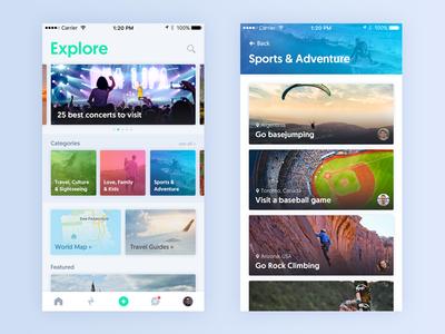 Explore ios travel iphone explore ux ui app
