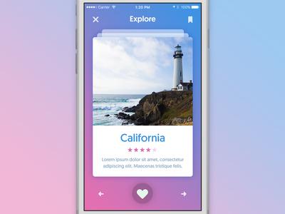 Explore California mobile design ux ui explore app