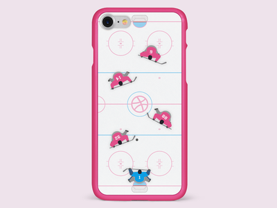 Teamwork - Ice Hockey olympics dribbble contest case playoff ice hockey illustration iphone work dream teamwork