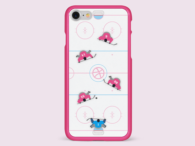 Teamwork - Ice Hockey olympics dribbble contest case playoff ice hockey illustration iphone work dream teamwork