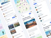 iBucket - Bucket List App goals flat app design android ios mobile uidesign ux ui bucketlist app