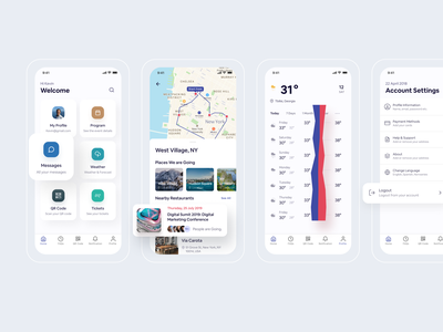 TAPP to Travel - iOS App (LIVE) design support designer ofspace planner event app event settings weather listing map finder travel app ui ios app app design