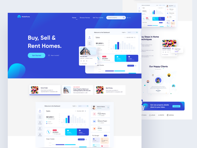 Buy, Sell, Rent Website Design web application dashboard agency design studio ofsapce landingpage admin website rent sell buy home house