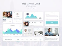 Preview material design ui kit psd free download