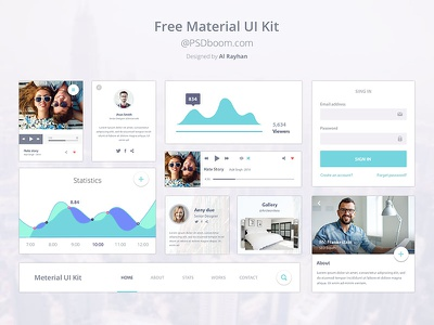 Material Design Ui Kit Design free ui ux material google design psd kit
