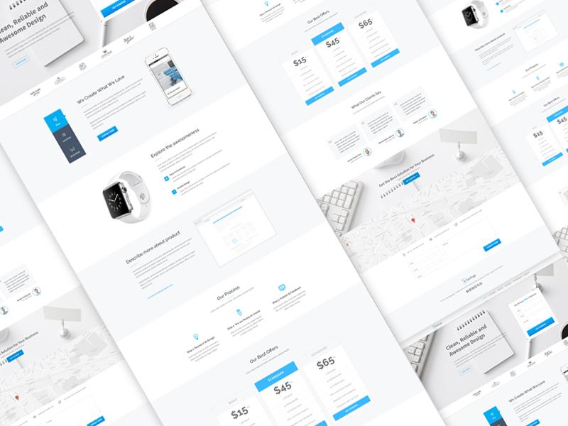 Startup Landing Page Design startup landing page ui ux