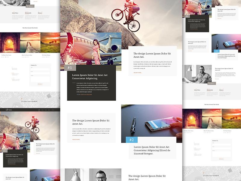 Landing Page for Travel Agecny landing page ui ux website design elegant designer