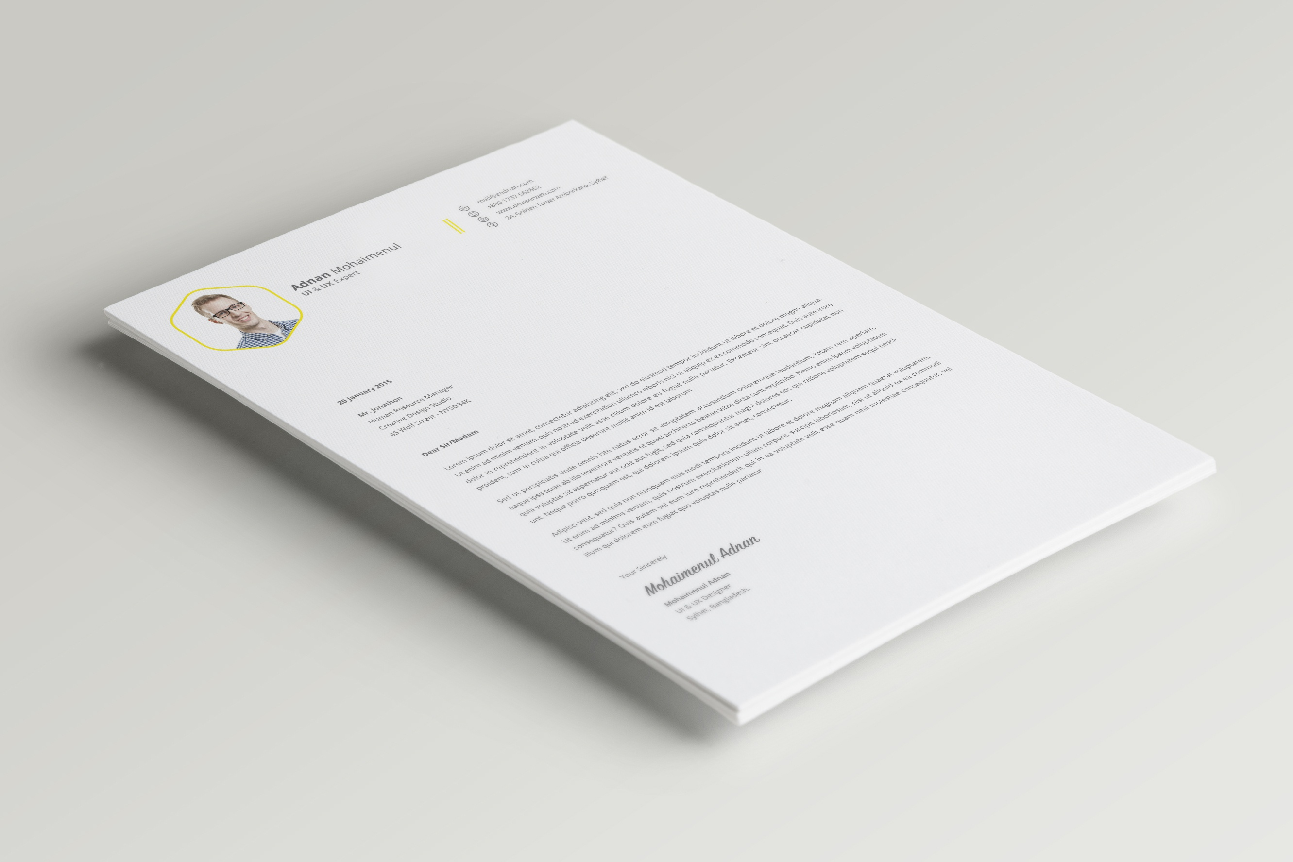 Dribbble 03 Cv Resume Cover Letter Psd Free Download Psdboom Com