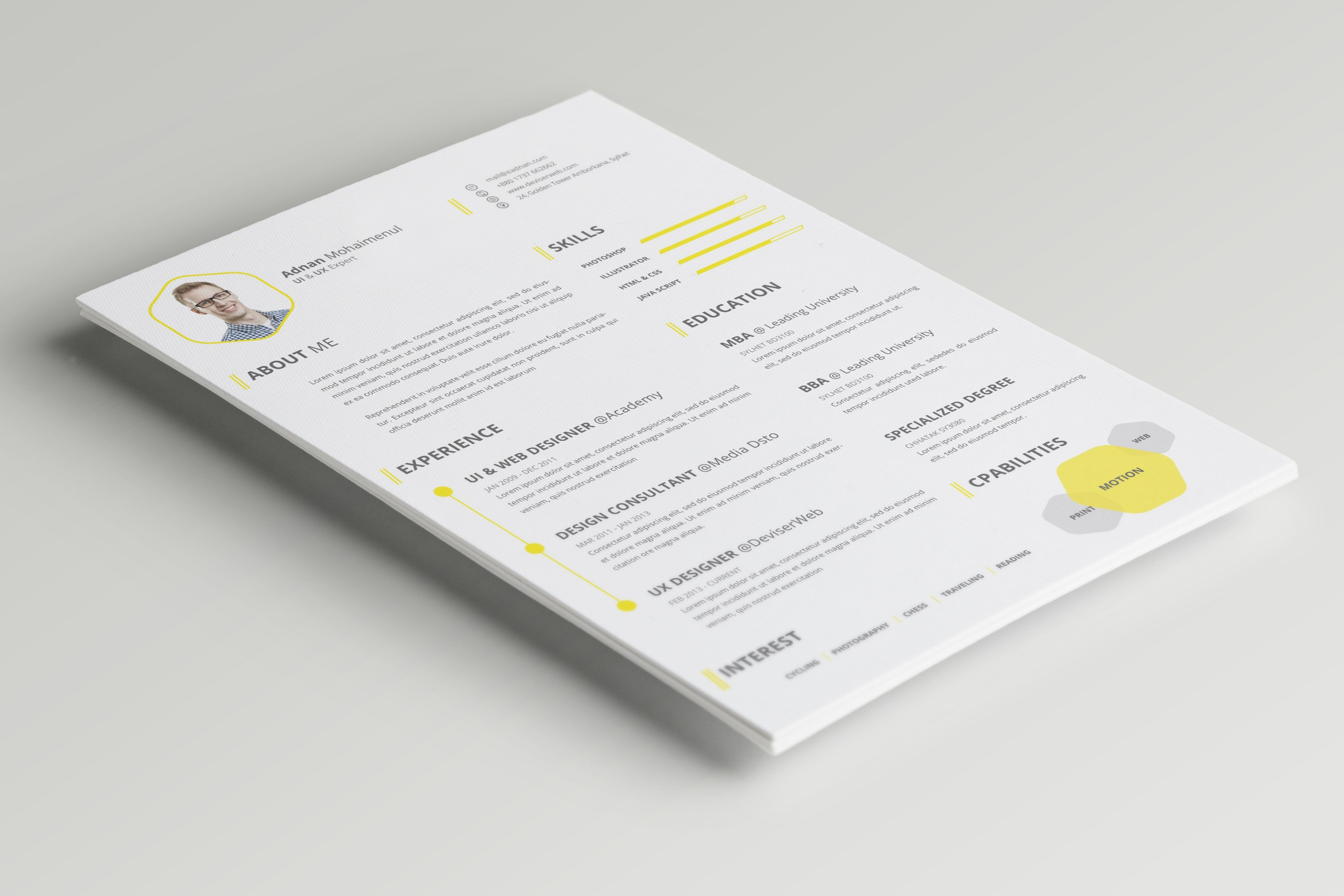 Dribbble 01 Cv Resume Cover Letter Psd Free Download Psdboom Com