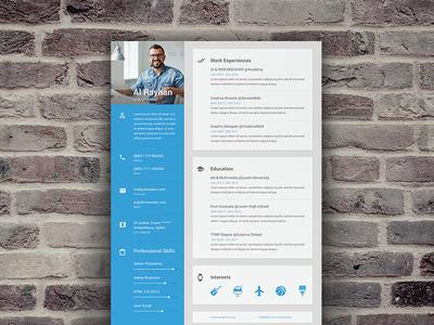 Material CV/Resume by Shekh Al Raihan ✪ - Dribbble