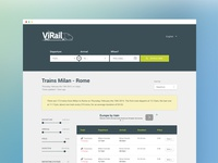 ViRail | Website Redesign with Google Material Design