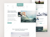 Marcy | Personal Story/Blog Free PSD