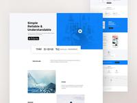 App Landing Page Design
