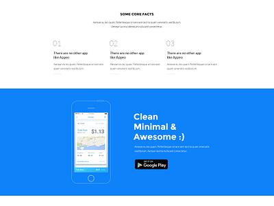 App Landing Page Design video header featured inspiration website colorful cta visual design ui template blue landing page app