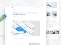Agency Homepage Design