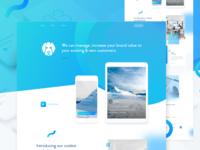 Agency Homepage Design v2