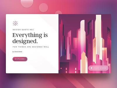 Everything Is Designed | Website Header website header clean header header web design website