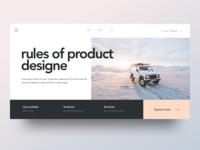 Rules of Product Design - Header Style
