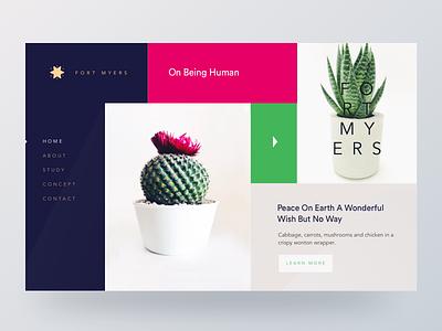 Home Page Concept design trend future trend concept website unusual design boxed grid